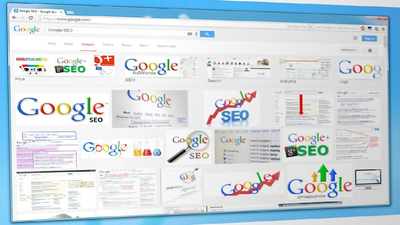 Search using an image on Google